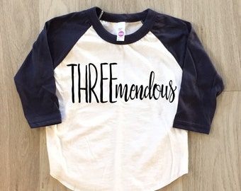 3rd Birthday tshirt - baby boy or girl third birthday t-shirt - toddler birthday shirt