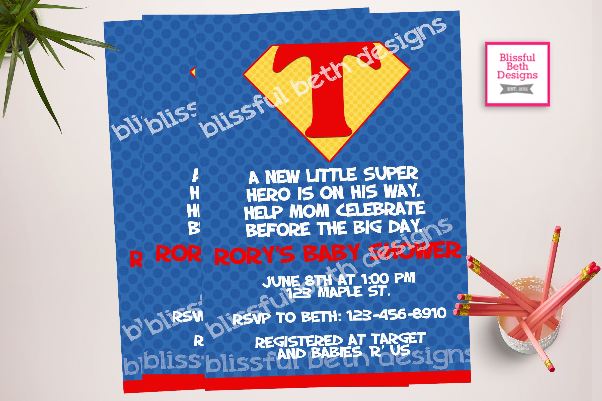 SUPERMAN BABY SHOWER, Superman Baby Shower Invitation, Supergirl Shower  Invite, Supergirl Shower, Superman Shower, Super Baby