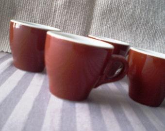 Chocolate Brown Demitasse - Espresso set of 4