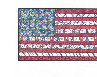 Flag Coloring Page!