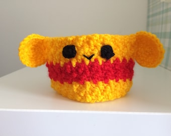 Winnie the Pooh inspired cup cosy