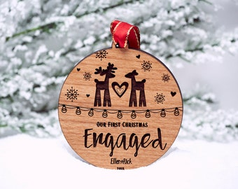Our First Christmas Ornament Married - Personalized Christmas Ornaments - Mr and Mrs - Gifts Couple - Newlywed Gift - Just Married - SKU#506