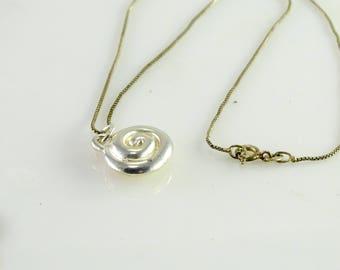 """Swirl Pendant on 16"""" Chain All Sterling"""