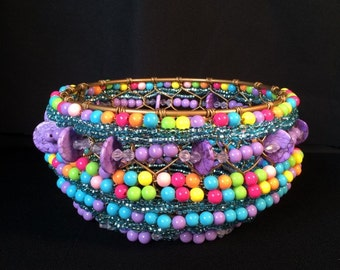 Little Princess- Beaded Basket (BWB0068)