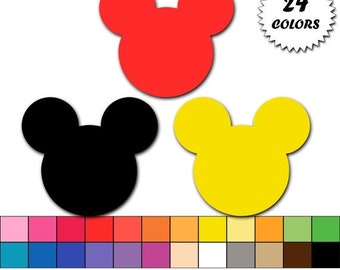 60% OFF SALE Mickey mouse clipart, mickey head clip art, icon, graphics, digital scrapbooking, commercial use - Instant Download - M345
