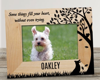 Some Things Fill Your Heart Personalized Pet Picture Frame, wooden frame, engraved, pet frame, dog frame, dog picture frame -gfy9117081