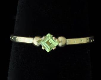 18K Peridot Ring