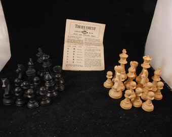 Chess set made out of wood