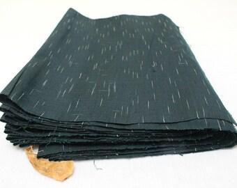 Vintage Japanese Tsumugi Ikat Silk. Yone Tsumugi Artisan Fabric. Hand Loomed Textile. Botanical Dye (Ref: 1865)