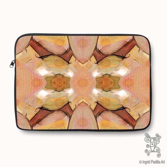 Boho, Bohemian, Amber, Artsy, Neoprene, Laptop Sleeve, Macbook case, Laptop case, Laptop Cover, Ingrid Padilla, Abstract Art
