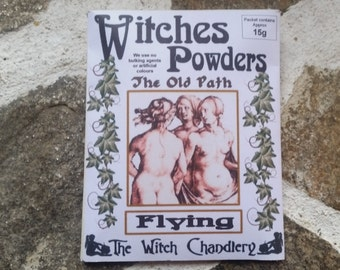 Witches Flying Powder, Astral Travel powder, Astral Projection, witches powders, Gypsy Magic, herbal powder, wiccan ritual circle