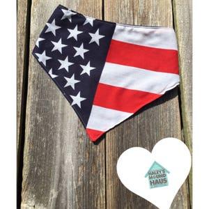American Flag Dog Bandana | Fourth of July Dog Bandana***