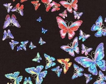 Butterflies Black Tiffany Timeless Treasures Fabric