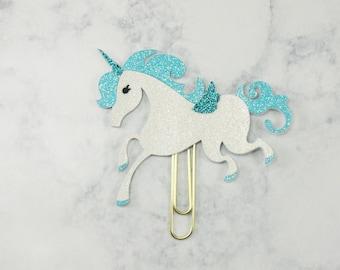 Unicorn Paper Clip/ Blue Unicorn Paperclip/ Magical Unicorn Paper Clip/ Planner Paper Clip/ Unicorn Planner Clips/ Unicorn Bookmark/ Unicorn