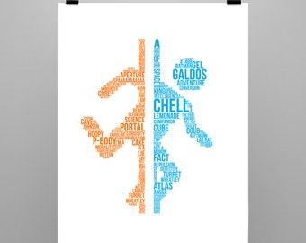 Portal - Logo Typography Poster Print