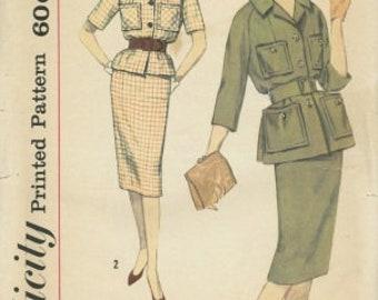 Sewing pattern - coat pattern - 1950s vintage pattern - womens sewing pattern - Size 12 Bust 34 - No envelope