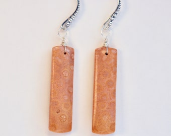 Easter Fossilized Coral Earrings ~Perfectly Matched