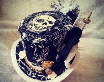 Pirate hat, Steampunk hat, Top hat, Mini Top hat, Mad Hatter hat, Kraken hat, Steampunk Costume, Cosplay costume, Kawaii, Seven seas