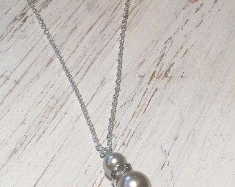 Collier perles, collier mariage, bal des finissants, bridemaids party, dame d'honneur, bff, cadeau femme, lady necklace