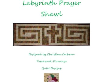 The Cross in the Labyrinth Prayer Shawl Pattern