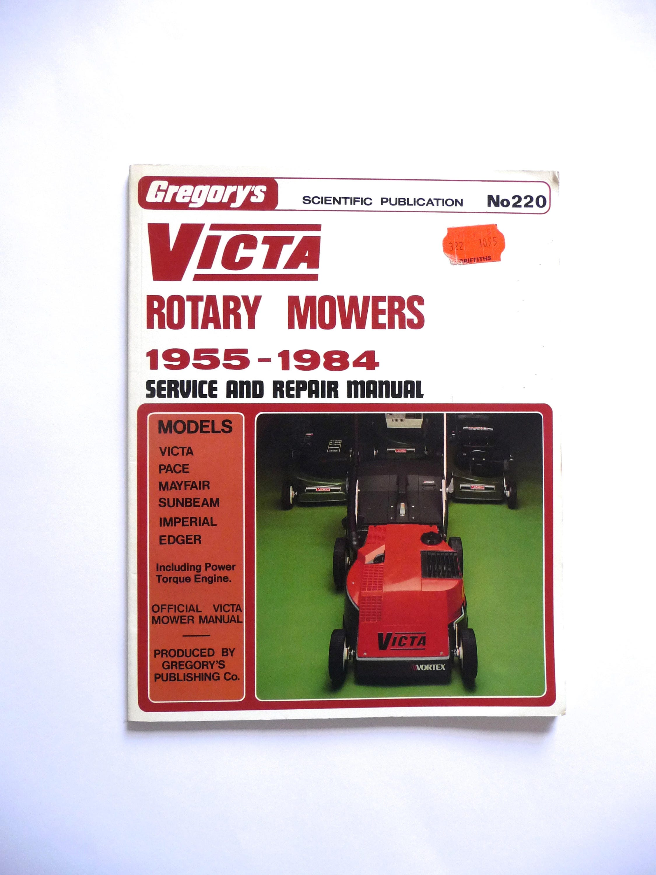 gregory s victa rotary mowers 1955 1984 service and repair rh etsy com