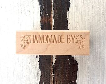 Handmade By / Wood Stamp / Handmade / Gift Tags / Gift Wrap / Limited Edition