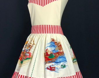 Vintage Christmas Style Aprons for Women