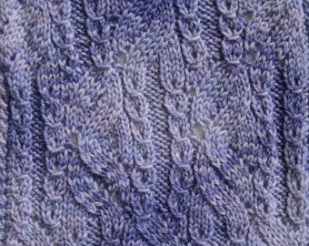 Knit Scarf Pattern:  Tsugaru Scarf Knitting Pattern