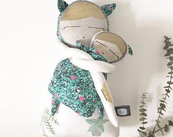 Plush MOM and baby cloth Matriochat