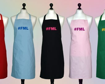 100% cotton #FML Aprons for tired Mummies everywhere - 39 Colours available