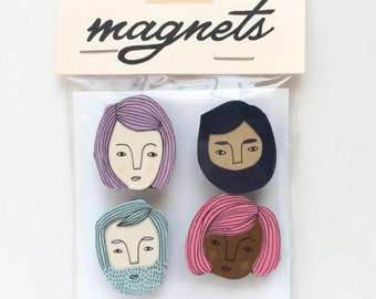 Tiny Faces Handmade Magnets