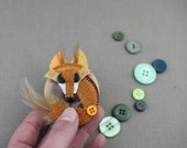 Cute Fox Brooch, Fox Jewe...