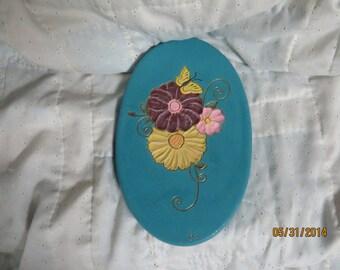 Carved flower plate