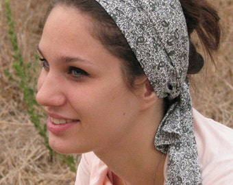Head scarf,head wrap,sinar tichel,hair wrap, special olive print,elopicia head scarf,head covering,gift idea