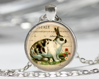 Rabbit Necklace Pendant Wearable Art Rabbit Jewelry
