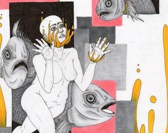 UPWARDS illustration art piece