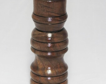Hand-turned Salt Shaker/Peppermill Combo Claro Walnut Wood