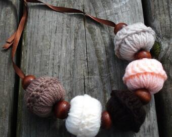 Boho crochet necklace, large beads necklace, boho necklace, large beaded necklace, boho jewelry, large beads, crochet necklace, boho beads
