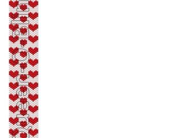 Peyote Cuff Tutorial - Heart/Valentine