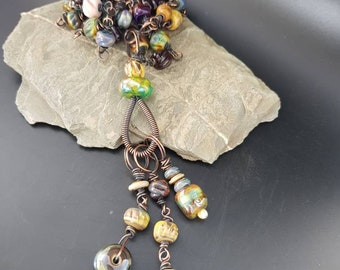 Handmade Lampwork glass necklace