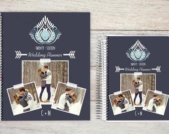 Custom Wedding Planner, Wedding Book, Bridal Organizer, Great Engagement Gift, Wedding Planning, Custom Engagement Gift, Blue Damask