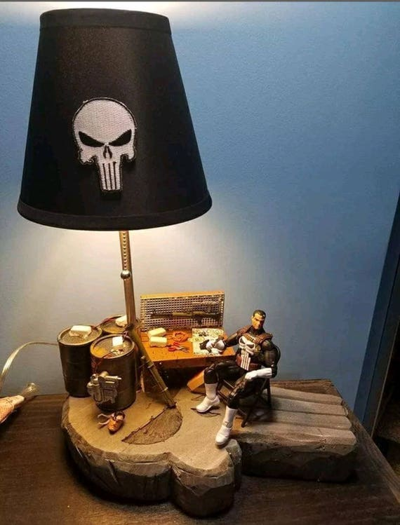 Punisher Custom Lamp Marvel Legends 1:12 Scale