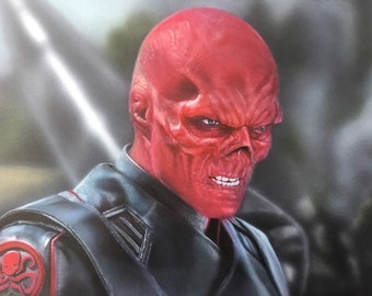Airbrushed Marvel- Red Skull