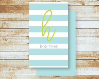 Personalized Calling Cards / Gift Tags / Stripes & Script