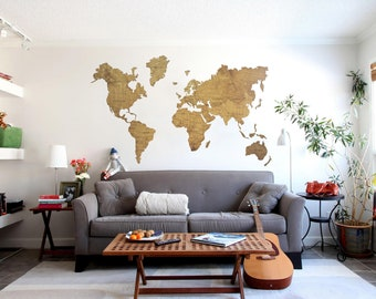 Wooden world map etsy wood wall art wall map of the world map wooden travel push pin map rustic home gumiabroncs Images