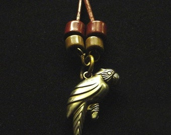 Brass Parrot Rope Necklace