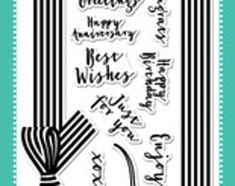 Avery Elle Clear Photopolymer Rubber Stamp Set - beautiful bow