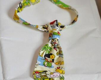Cravate enfant, garçon, bébé, motifs Hawaï, Sushis, Manga, Kawaï, Originale et Chic !