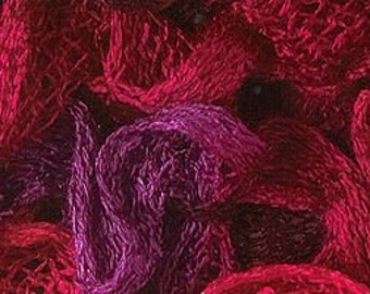 Katia Ondas Ruffle Scarf Yarn Color 74 Red Magenta.