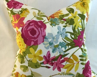 Pop of Floral-Pillow Cover